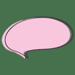 Doodle de discurso em quadrinhos rosa dos desenhos animados