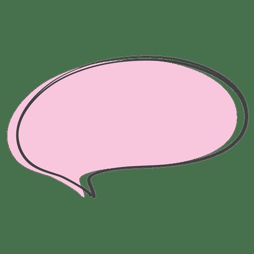 Doodle de discurso cómico de dibujos animados rosa