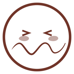 Desenhos animados confundido flat emoji