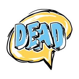 Cartoon dead slang word