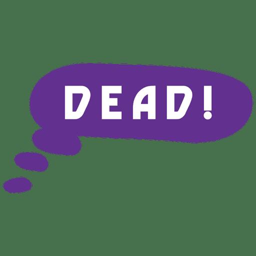 Bolha de discurso morto dos desenhos animados Transparent PNG