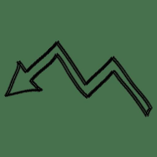 Cartoon folded turn arrow direction Transparent PNG