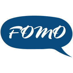 Cartoon fomo speech bubble