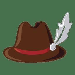 Ilustração de chapéu típico alemão de roupas