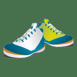 Ropa zapatillas de colores brillantes.