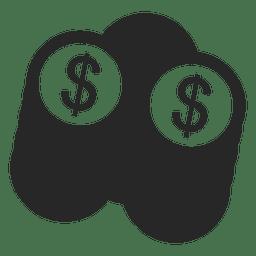 Pilha de moedas de dólar