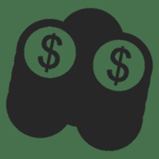 Pilha de moedas de dólar Transparent PNG