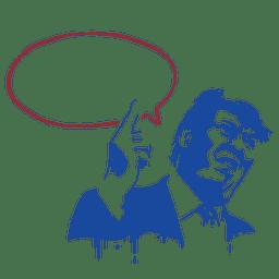 Donald, trunfo, estêncil, Ilustração