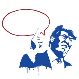 Ilustração de estêncil Donald Trump