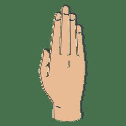 Fingers hand illustration