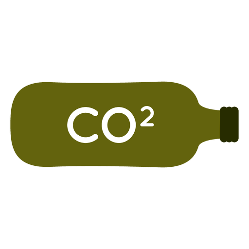 Green co2 bottle tank Transparent PNG