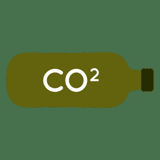 Green co2 bottle tank