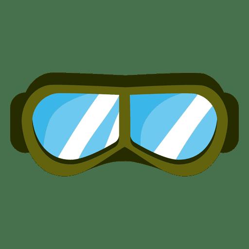 Máscara de paintball verde Transparent PNG