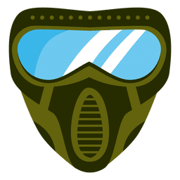 Flat green paintball mask