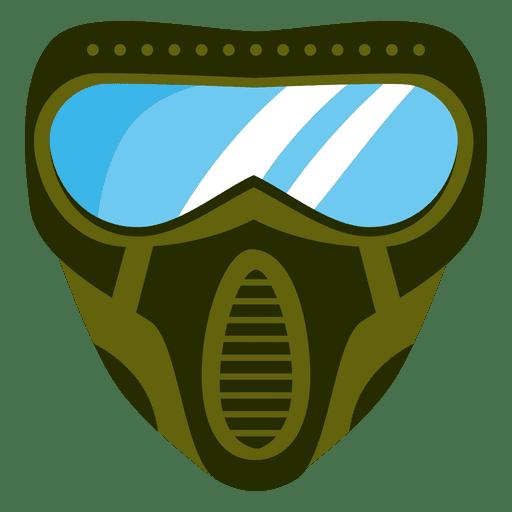 Flat green paintball mask