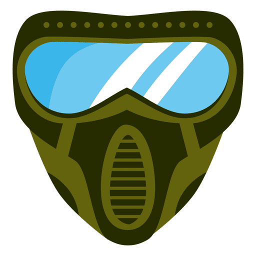 Máscara de paintball verde plana Transparent PNG