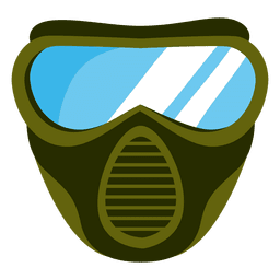Green paintball mask illustration