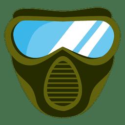 Ilustração de máscara de paintball verde
