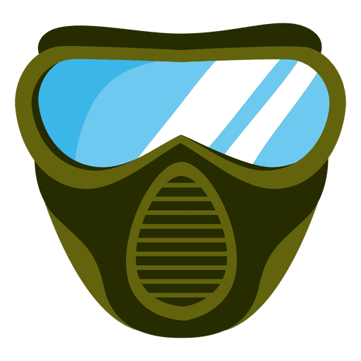 Green paintball mask illustration Transparent PNG