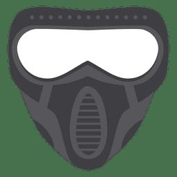 Halloween graue Paintball Maske