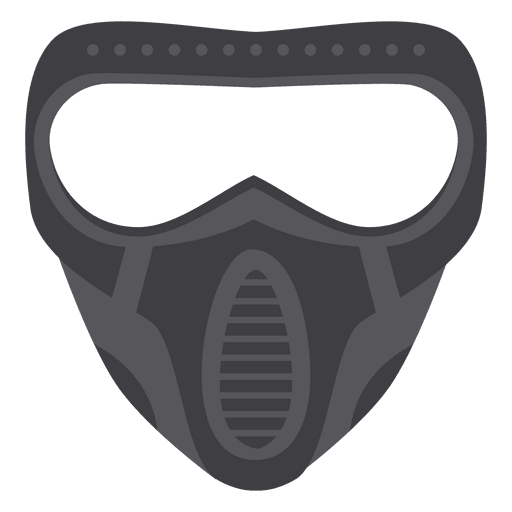 Halloween gray paintball mask Transparent PNG