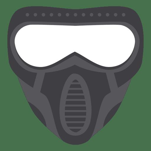 Halloween gray paintball mask