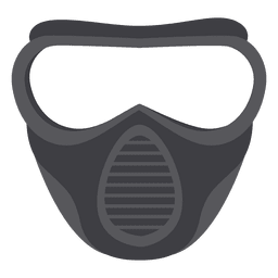 Halloween gray paintball mask illustration