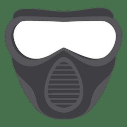 Ilustración de máscara de paintball gris de Halloween
