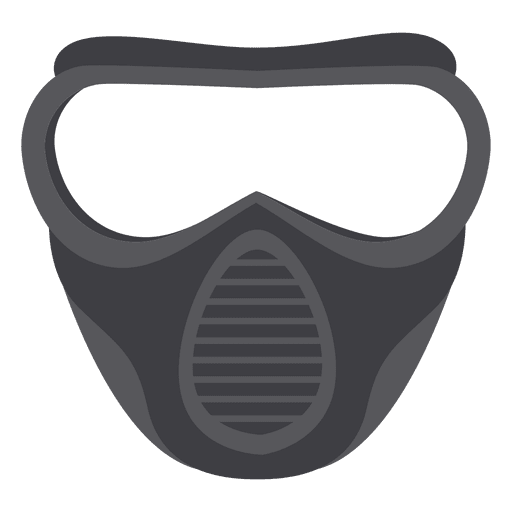 Halloween gray paintball mask illustration Transparent PNG