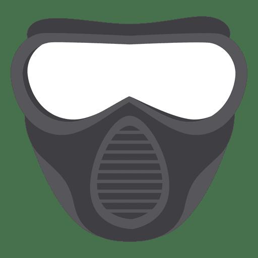 Halloween gray paintball mask illustration