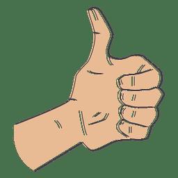 Mão, ok, polegares cima, ilustração