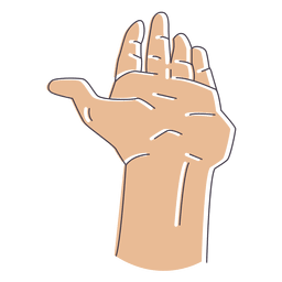 Illustrated hand fingers