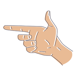 Hand gesture fingers illustration