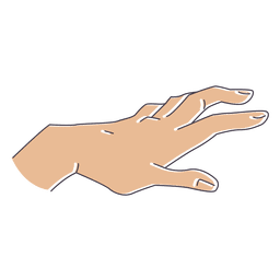 Hand gesture with fingers