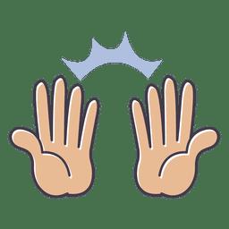 Mostre o elogio do gesto das mãos