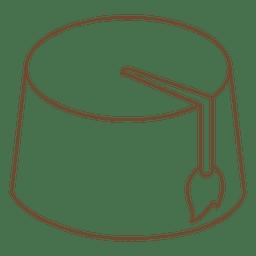Ícone de traço de sobremesa de chapéu