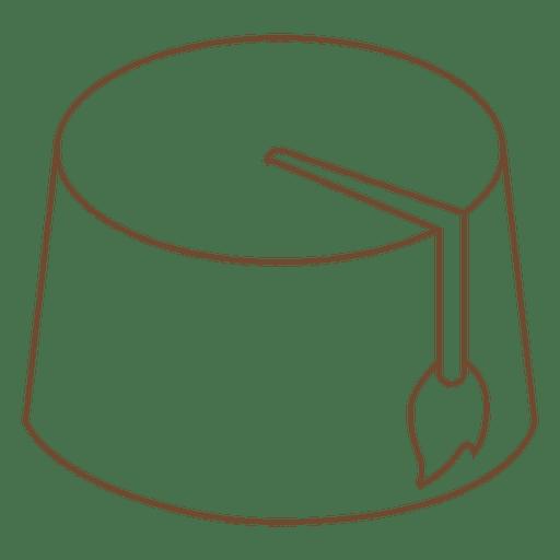 Ícone de traço de sobremesa de chapéu Transparent PNG