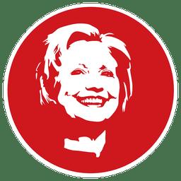 Estêncil de Hilary Clinton