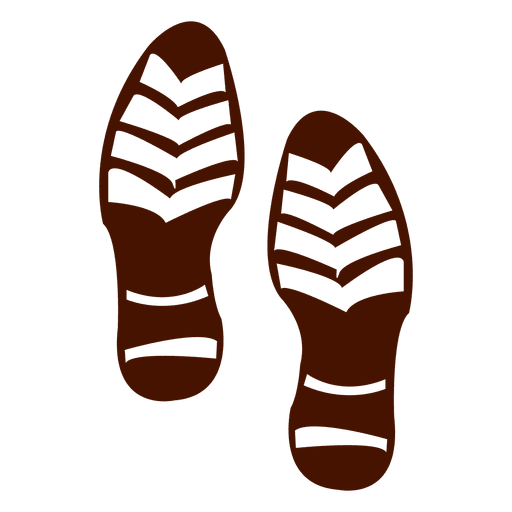 Silhouette of human shoes footprints Transparent PNG