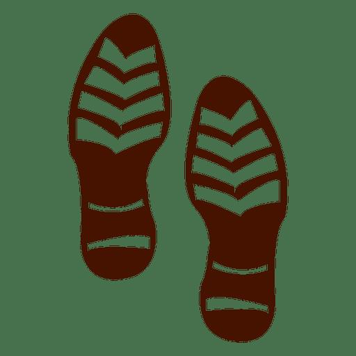 Silueta de huellas de zapatos humanos. Transparent PNG