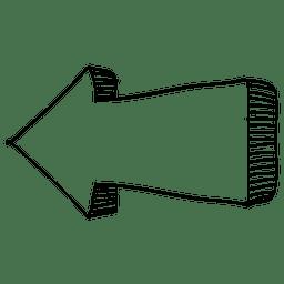 Seta infográfica esquerda direção