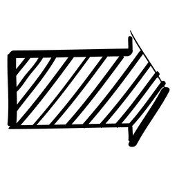 Infografía comprobada doodle flecha