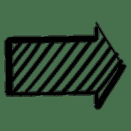 Infográfico verificado seta para doodle