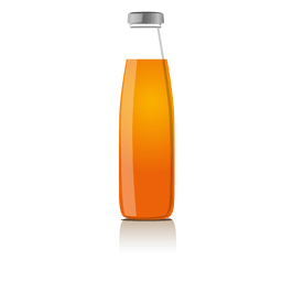 Diseño de botella de jugo
