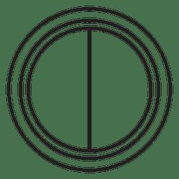 Lente tapa icono negro blanco