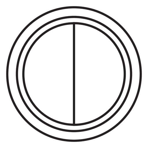 Lens cover black white icon