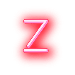 Letterhead red neon alphabet z