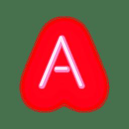 Papéis de carta red neon font a