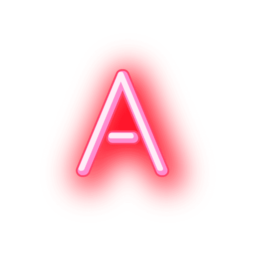 Letterhead red neon font a