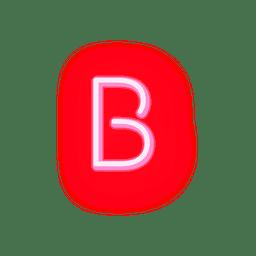 Cabeçalho vermelho neon fonte b